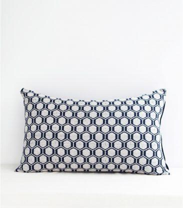 Coussin indien bleu indigo 40x65 cm - Jamini design - Collection AW 2016