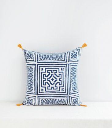 Coussin indien bleu indigo 40x40 cm - Jamini design - Collection AW 2016