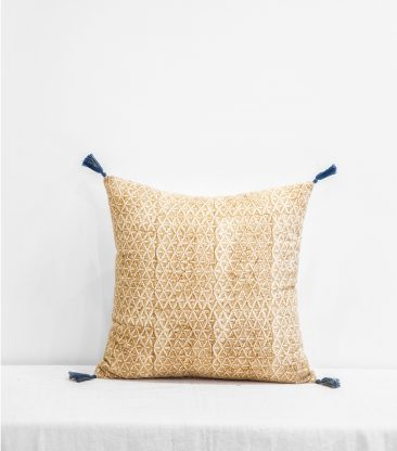 Coussin indien jaune moutarde 40x40 cm - Jamini design - Collection AW 2016