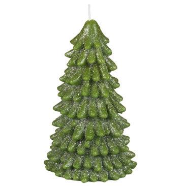 Maisons du Monde - Bougie de Noël sapin vert à paillettes