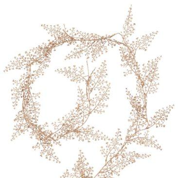 Maisons du Monde - Guirlande de Noël feuilles beige doré L170
