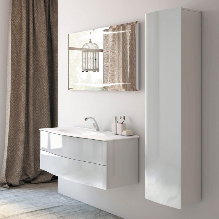 Pour une salle de bains scandinave monochrome for Au pere du meuble