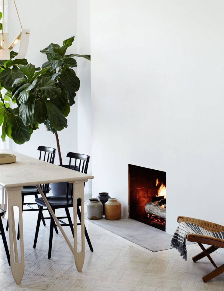 Le pouvoir du noir et blanc contemporain | Brooklyn brownstone