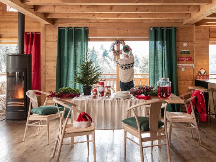 Catalogue de Noël 2019 en rouge et vert de Maison du Monde