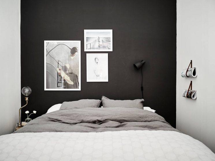 Opter pour un mur de couleur en déco | Un mur noir