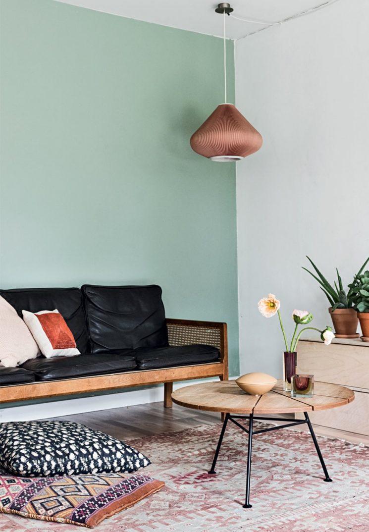 Opter pour un mur de couleur en déco | Un mur vert pastel