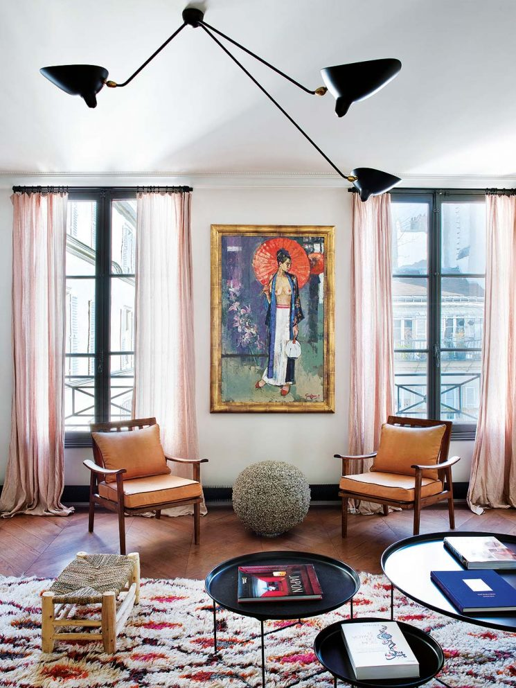 La bohème chic chic à Paris - L'appartement de Caroline Gayral, fondatrice de la boutique Fragments