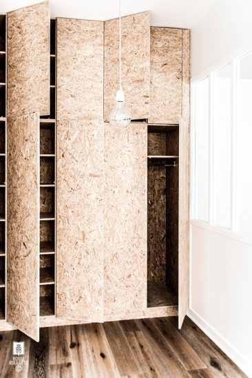 La d co bois de chantier parlons agglom r contreplaqu - Faire placard integre chambre ...