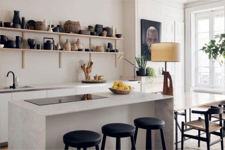 L'art du contraste en décoration | Rénovation d'un appartement à Lyon par Maison Hand
