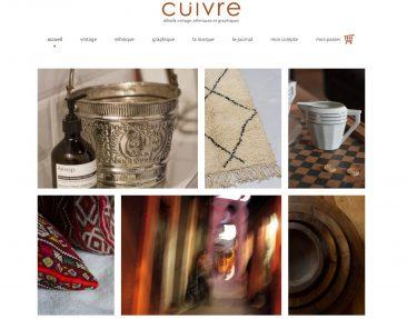 Sélection de boutiques en ligne pour vos cadeaux de Noël - Cuivre