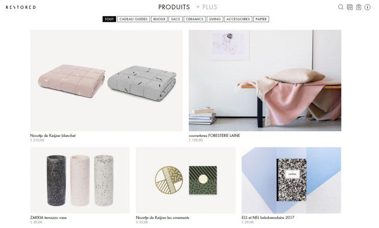 Sélection de boutiques en ligne pour vos cadeaux de Noël - Restaured