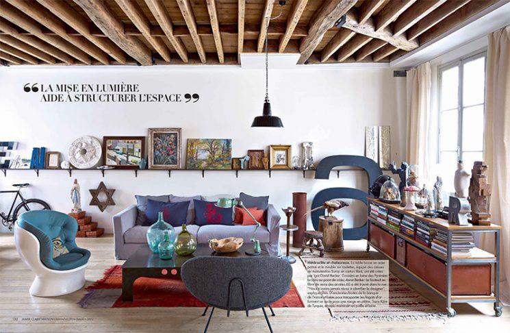 Un certain style Merci - Le loft de Shiri Slavin dans Marie-Claire Maison