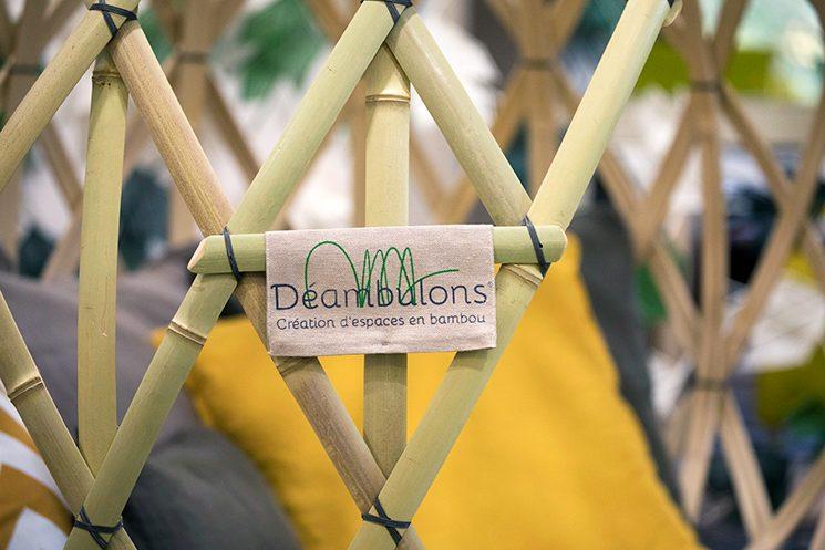 Déambulons, des structures cocon en bambou