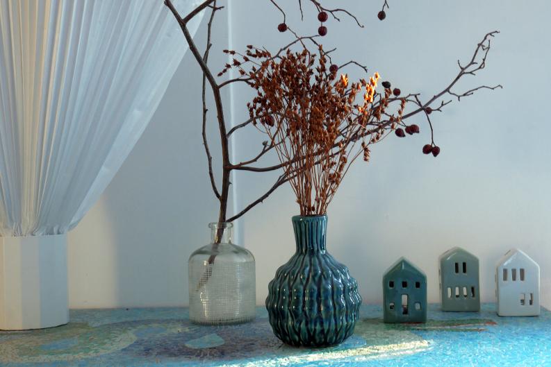 d corez avec des bouquets de fleurs s ch es. Black Bedroom Furniture Sets. Home Design Ideas