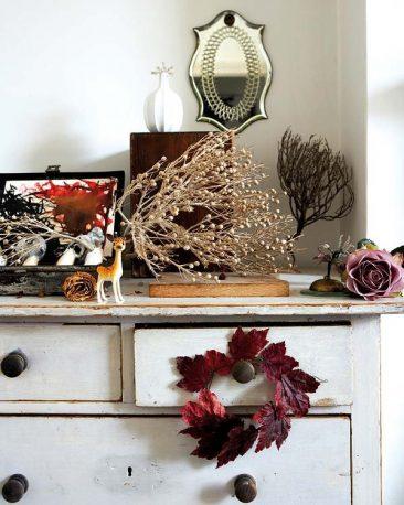 Décorez avec des bouquets de fleurs séchés | une maison de style victorien