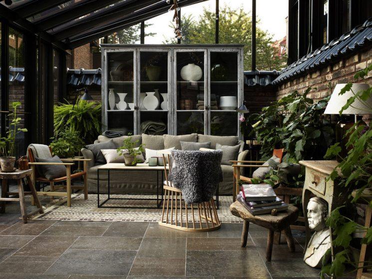 Aménager un jardin d'hiver dans sa véranda // Hôtel Ett Hem à Stockholm pour la présentation Ikea 2017 par le studioilse