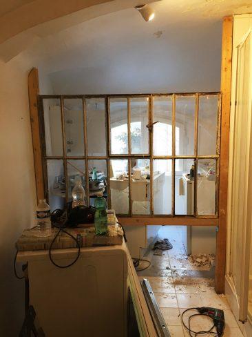 Projet d'aménagement d'une chambre d'hôtes : PENDANT LES TRAVAUX