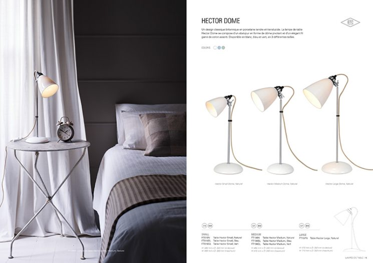 Catalogue Original BTC - Lampe de table Hector