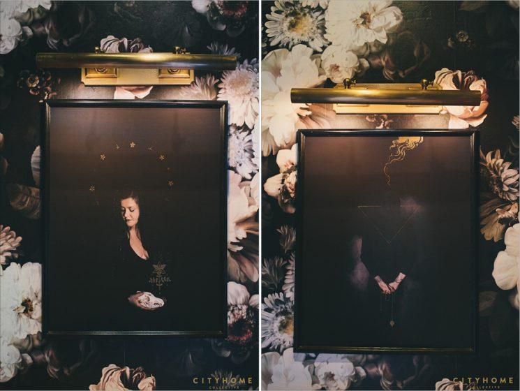 """Les papiers-peints """"dark floral"""" par Ellie Cashman    Restaurant Finca Salt Lake city by city home collective"""