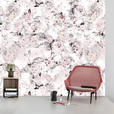 """Les papiers-peints """"dark floral"""" par Ellie Cashman - Rose Decay"""