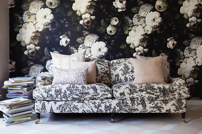 Les Papiers Peints Dark Floral Par Ellie Cashman