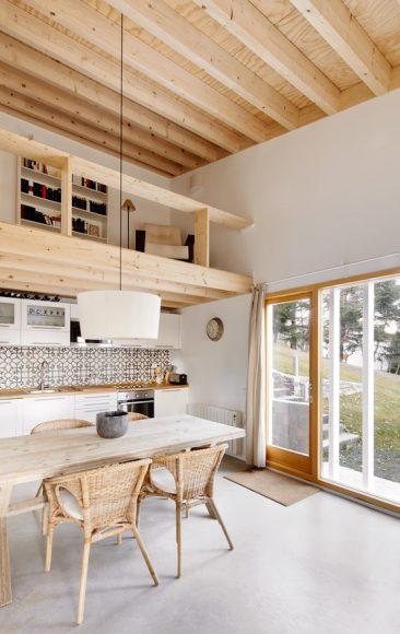 Dans la veine, je rêve d'une maison de campagne ciment et bois de chantier... || Mogas architectes, Cottage 2015