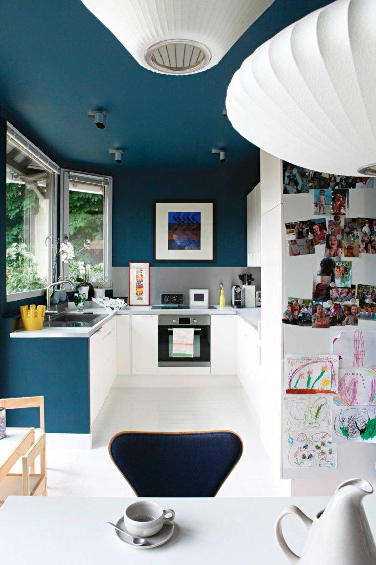 On utilise du bleu pour dessiner des espaces