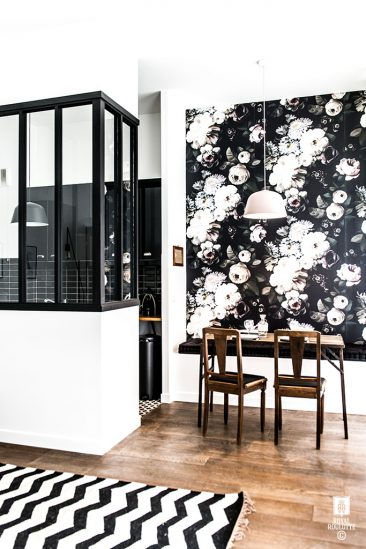 "Les papiers-peints ""dark floral"" par Ellie Cashman 