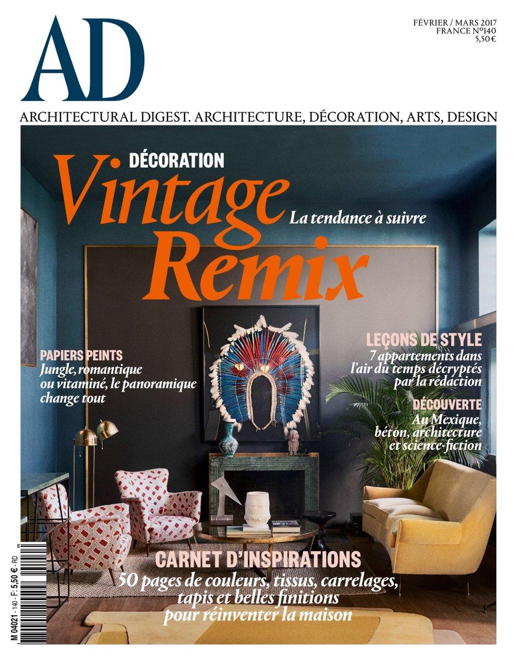 Dimore studio fait la couverture du dernier AD magazine Février/Mars 2017