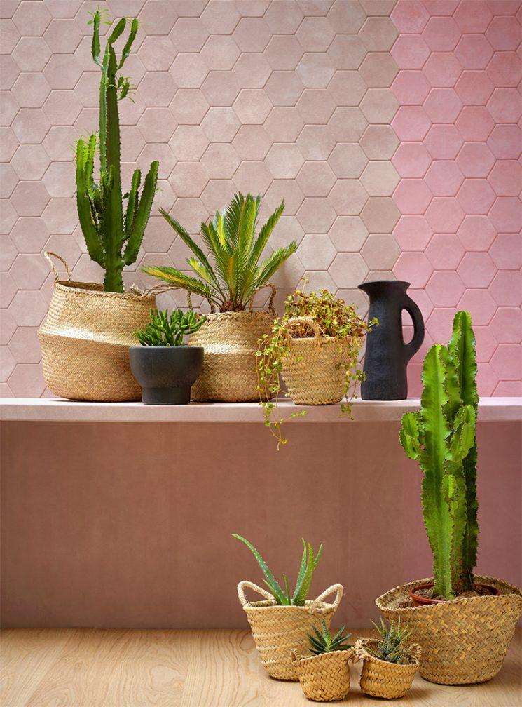 Cuir au carré, revêtement de mur en mosaïque de cuir