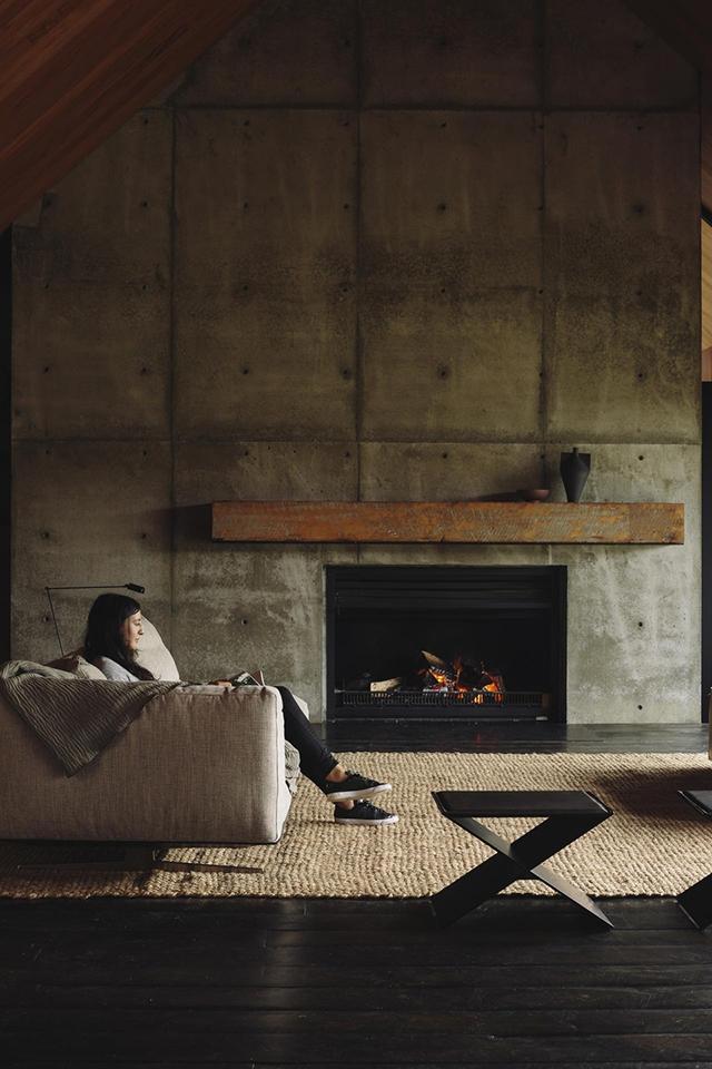 Forest House, une maison de béton et de bois au cœur de lanature par Fearon hay architectee - New Zeland