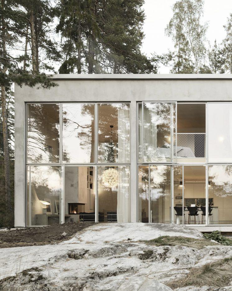 Six walls house à Nacka en Suède par Arhov Frick Architecte