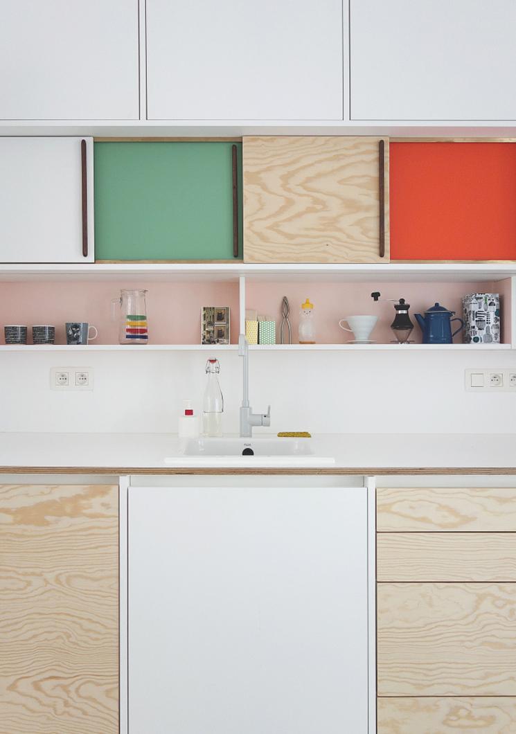 Les agencements colorés et scénographiés de l'architecte designer Dries Otten || Projet Rotterdam