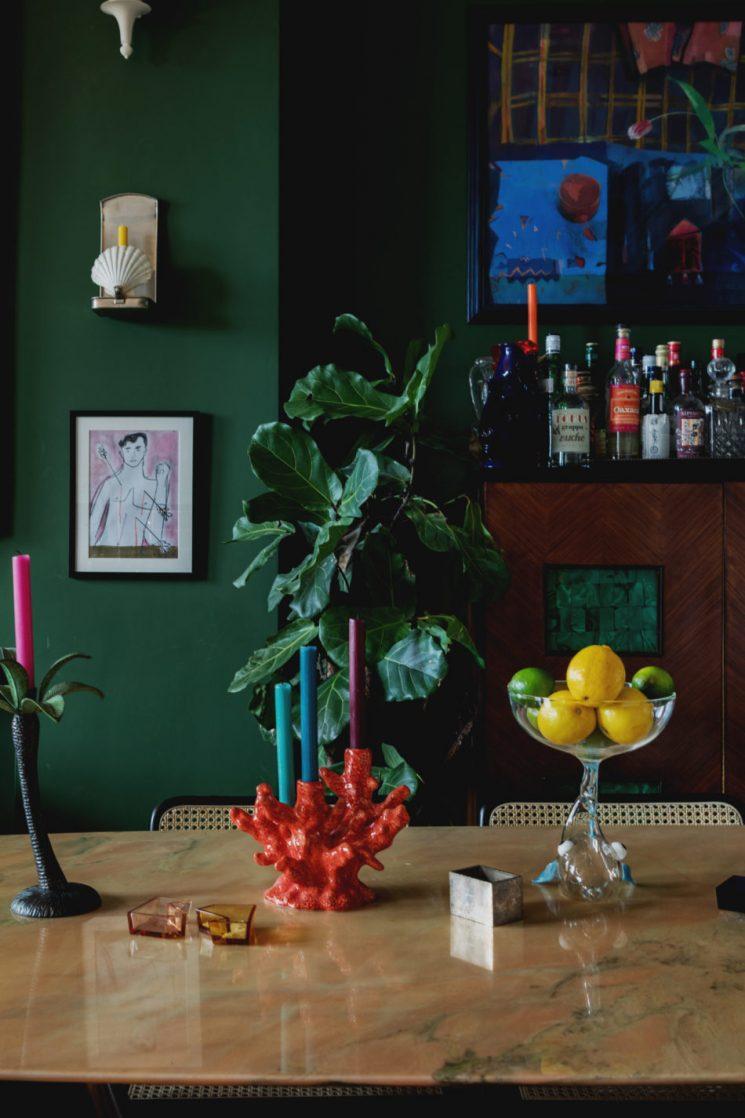 Le goût des couleurs. Le goût du vert. | L'appartement de Luke Edward Hall et Duncan Campbell à Londres