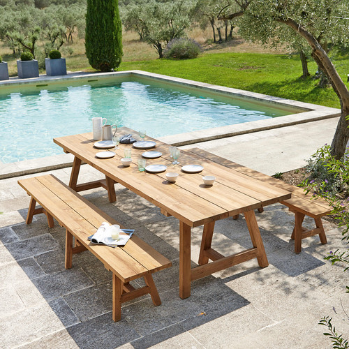 Table teck jardin du bout du monde des for Table jardin maison du monde
