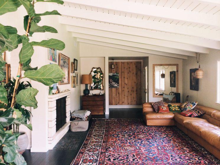 Tendance déco, le grand retour du tapis persan | Santa Monica home par Dabito
