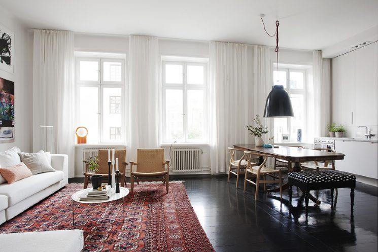 Tendance déco, le grand retour du tapis persan | Pelle Lundquist -Appartement Stockholm