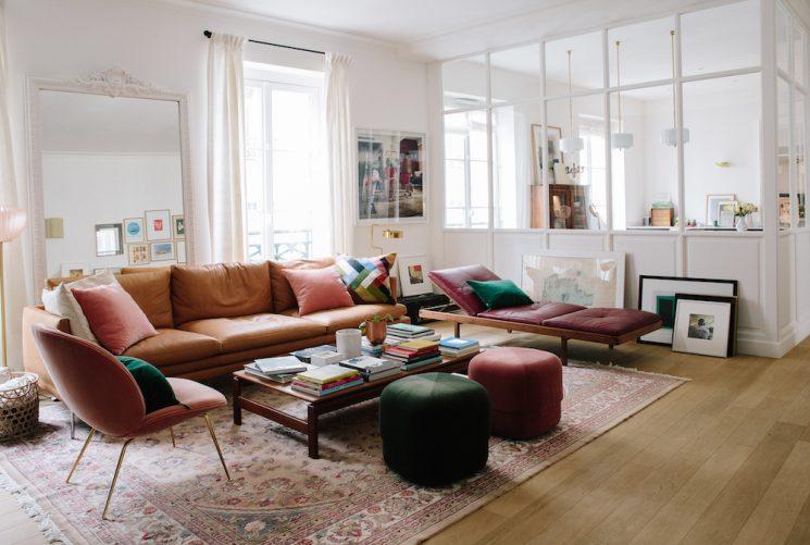 tendance dco le grand retour du tapis persan appartement morgane sezalory - Tapis Deco