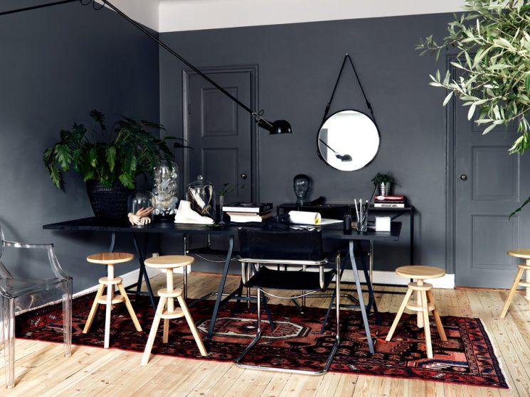 Tendance déco, le grand retour du tapis persan | Appartement gris