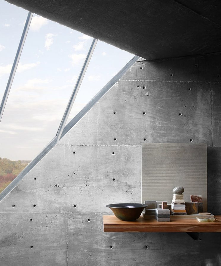 Sous l'influence du brutalisme | Mell Lawrence architects Concrete studio Austin