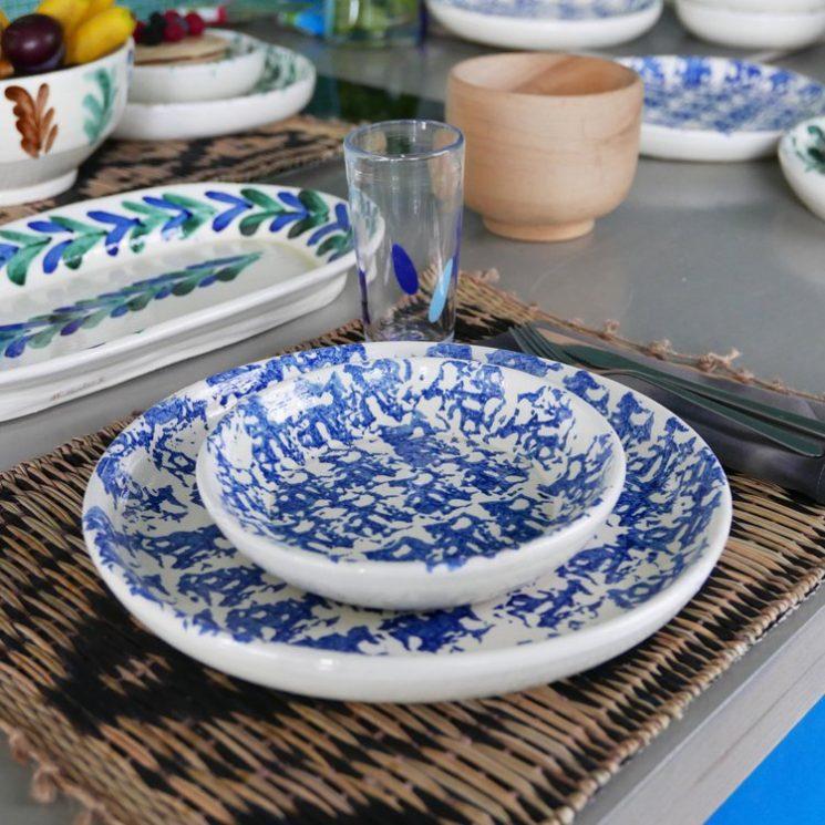 Nouveautés Datcha - Collection d'assiettes en terre cuite émaillée