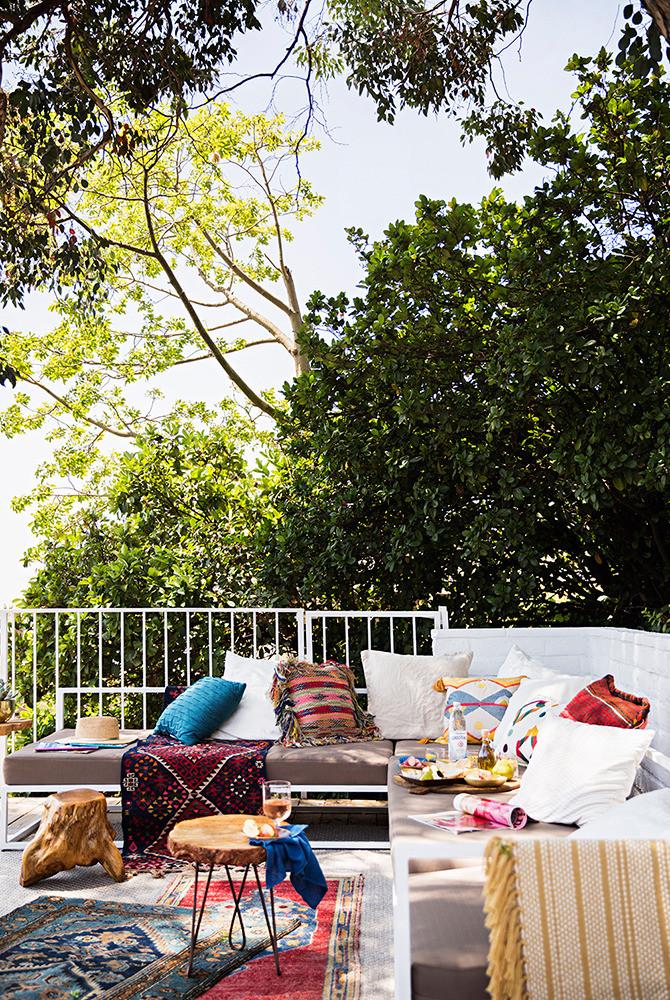 Une terrasse bohème chez Emily Henderson à L.A.