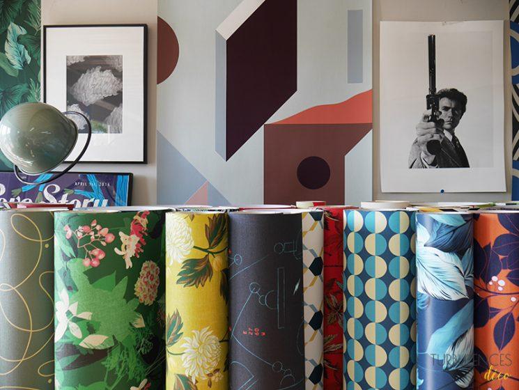 Le Presse Papier, des papiers-peints forts en motif - Visite du studio | Turbulences Déco
