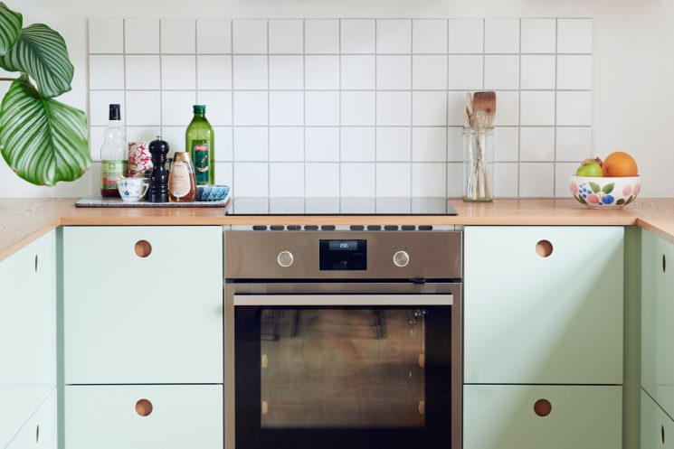 Reform Ou Comment Relooker Une Cuisine Ikea   Cuisine Basis Couleur Menthe  à Lu0027eau