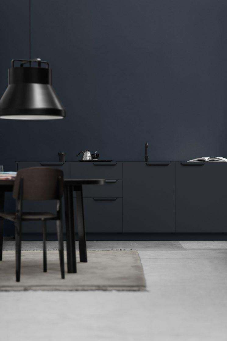 Reform ou comment relooker une cuisine Ikea - Cuisine Sigurd-Larsen en aluminium plié et découpé noir