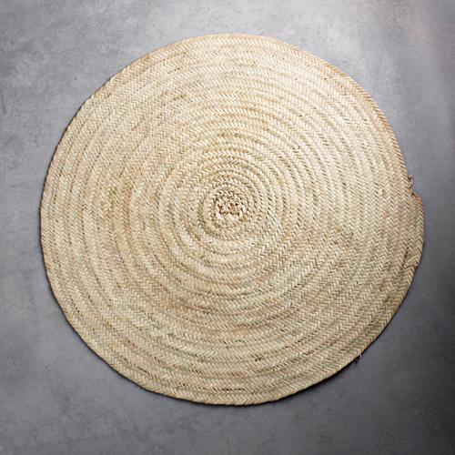 Tapis rond D100 cm en feuille de palmier Tine K Home