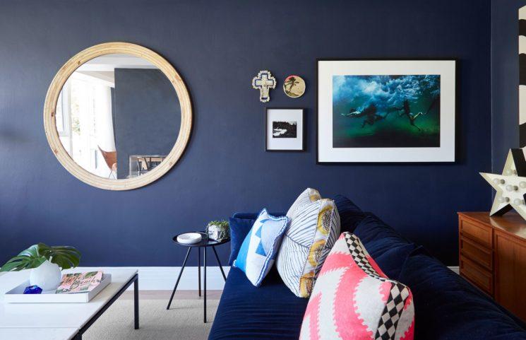 Mood blue en déco || La maison de Sarah et Ger McCormack and Family près de Melbourne