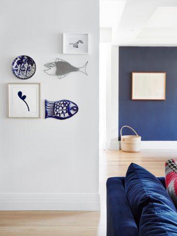 Blue mood en déco || La maison de Sarah et Ger McCormack and Family près de Melbourne