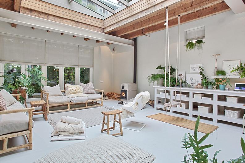 Le loft tout en douceur d\'Irène Mertens à Amsterdam