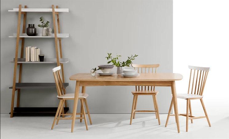 Table à rallonges, chêne, Deauville - 399 € au lieu de 499 € sur made.com